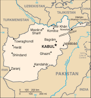 Map of Afghanistan showing the location of Herat in relation ...